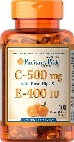 Pride vitamine de Puritan's C & E 500