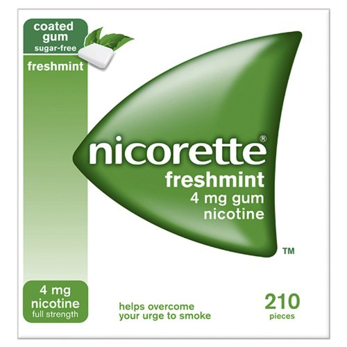 Nicorette Chewing Gum 4mg Freshmint - 210 Pieces