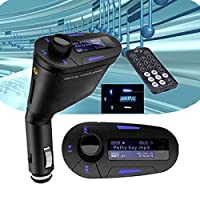AUDEW Car MP3 Player Wireless FM Transmitter Modulator LCD USB SD MMC Remote For Phone