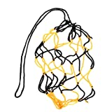 簡易ボールバッグケース 網袋 サッカー/バレーボール/バスケットボール用 ブラックとイエロー