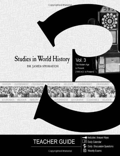 Studies in World History Volume 3 - Teacher Guide
