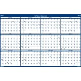 House of Doolittle 24 x 37 Inches Laminated Write-On/Wipe-Off Wall Planner, January 2015 to December 2015, Vertical or Horizontal, Recycled (HOD396)
