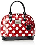 loungefly Disney Minnie Polka Dot Embossed Top Handle Bag,Red,One Size