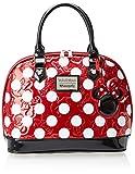Disney Minnie Red Polka Dot Embossed Top Handle Bag