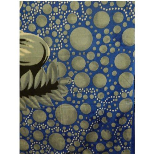 Colcha Lotus Buda gris plata azul 235x215cm Algodón Cortina