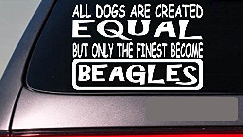 "Beagles all dogs equal 6"" sticker *E514* decal vinyl beagle hound rabbit hunt"