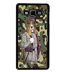 PrintDhaba Funny Dog D-4683 Back Case Cover for SAMSUNG GALAXY A8 (Multi-Coloured)