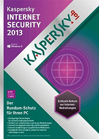 Kaspersky Internet Security 2013 3 Lizenzen [Download]