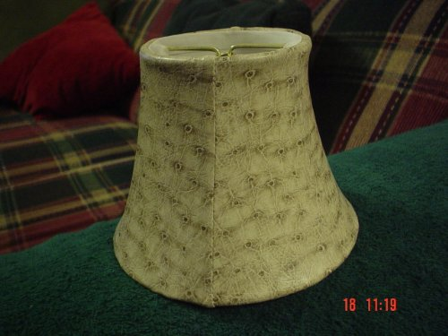 Faux Ostrich Beige Lampshade