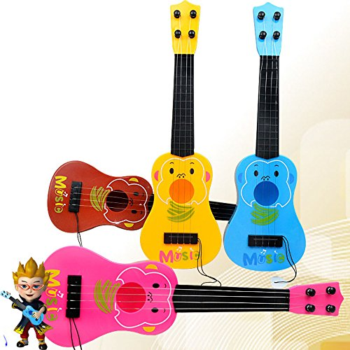 Syeer-4-Strings-Musical-Plastic-Toy-Ukulele-Small-Guitar-For-Beginners-Kids-Children-Early-Education-Simulation-Educational-tools-Ukulele-for-kids-Multiple-colors-and-randomly-sent