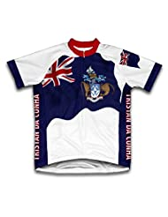Tristan Da Cunha Flag Short Sleeve Cycling Jersey for Women