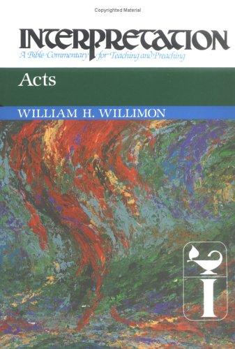 Acts, WILLIAM H. WILLIMON