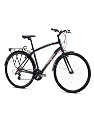 Mongoose Crossway 300 Hybrid Bike X Small, Black/Red