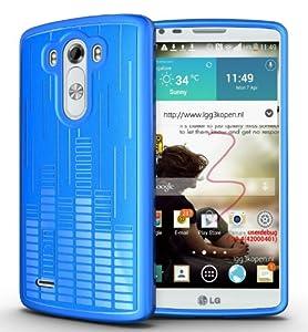 TUDIA Ultra Slim Melody TPU Bumper Protective Case for LG G3 (2014) (Blue)