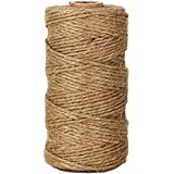 KINGLAKE® New Arrival Unique Durable Natural Jute Twine Best Industrial Packing Materials Heavy Duty Natural Twine 300 Feet for Arts and Crafts and Gardening Applications