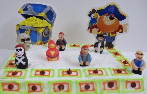 pirate birthday cake topper set
