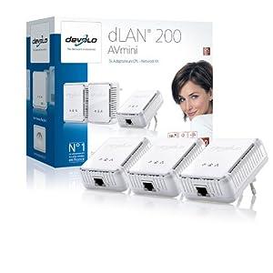 Devolo Mini Network Kit Adaptateur Réseau CPL dLan 200 AV