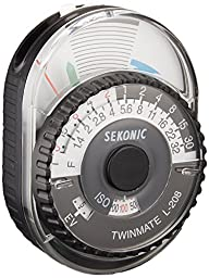 Sekonic 401-208 Twin Mate Light Meter (Black/White)