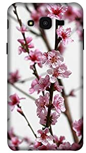 The Racoon Lean pink flower bough hard plastic printed back case / cover for Samsung Galaxy J7