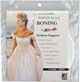 """Covered Poly Boning 1/2"""" Wide 3 Yards-white"""