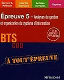 echange, troc Thierry Dagorne, Frédéric Desaint, Thierry Jacob - EP5 ANALYSE DE GESTION BTS CGO (Ancienne édition)