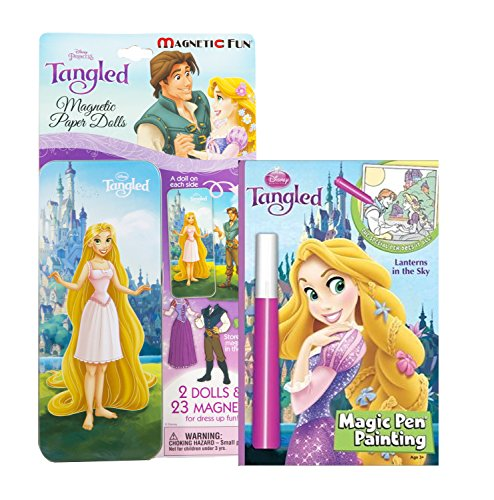 Maven Gifts: Lee Publications Disney Tangled 2-Pack Activity Bundle - Tangled Magic Pen Painting Book,