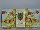 La Florentina Soap Festive Holiday Gift Box Set of 3 5.3oz Soaps (Pine)