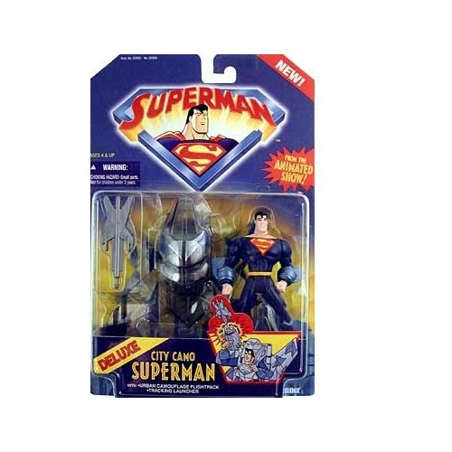 Superman the Animated Series Deluxe City Camo Superman Action Figure - 1