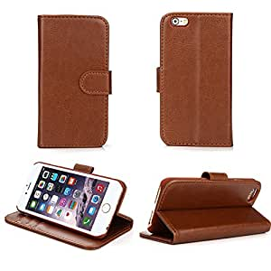 Bear Motion Case for iPhone 6S - Premium Folio Wallet Case Cover with PC inner Case for iPhone 6S 4.7 Inch - Brown