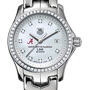 University of Alabama TAG Heuer Watch - Women's Link with Diamond Bezel