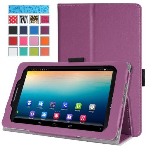Moko Lenovo Ideatab S5000 Case - Slim Folding Cover Case For Lenovo Ideatab S5000 7 Inch Tablet, Purple