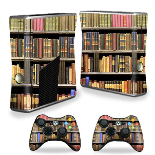 MightySkins Protective Vinyl Skin Decal Cover for Microsoft Xbox 360 S Slim + 2 Controller Skins Sticker Skins Books купить
