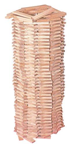 XL Set: 200 Bausteine aus Holz - Steine Holzbausteine Bricks natur Baustein Naturbaustein - Kinderland - Holzbaustein - für Kinder Mädchen Jungen / Holzspielzeug