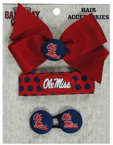 NCAA Ole Miss Rebels Ladies hair Accesories 4-pc set (Accesory For Pc compare prices)