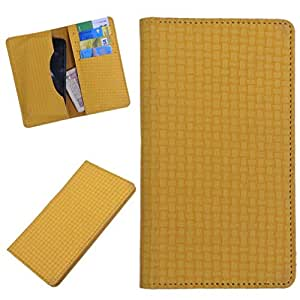 DCR Pu Leather case cover for XOLO Q1020 (yellow)