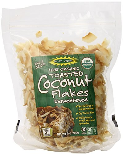Let's Do Organic Unsweetened Coconut Flakes, Toasted, 7 Ounce (Pack of 12) (Organic Trail Mix Snack Packs compare prices)