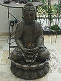 BRUNNEN BUDDHA SKULPTUR STATUE 86cm INCL. LICHT