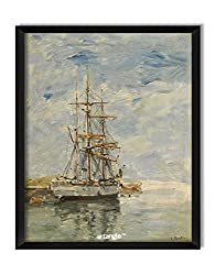Artangle Eugene Boudin - Anchored Three-Master, 1894-97 Framed Poster