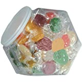 Penny Candy Jar filled with Fruit Buttons