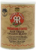 Reggie's Roast Organic, Fair Trade Whole Bean Coffee, 12-Ounce Cans (Pack of 3)