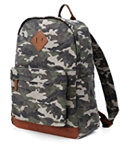 Pure Cotton Camouflage Rucksack