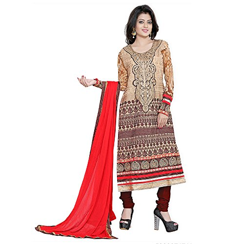 Yehii salwar suits for women stitched party wear Beige Georgette
