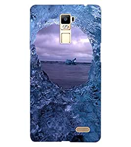 ColourCraft Amazing Water Effect Design Back Case Cover for OPPO R7