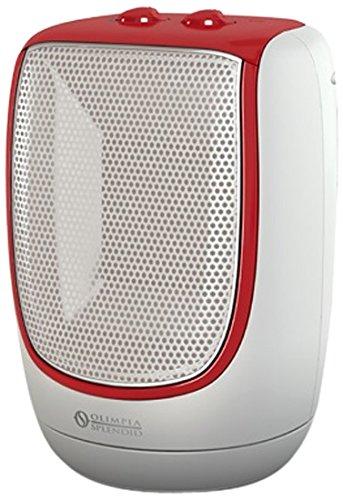 Olimpia Splendid 99544 Radical Smart Termoventilatore Ceramico, 500/1000/1800 W, Bianco/Rosso