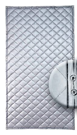 "Singer Safety Single Faced Quilted Fiberglass Panel, 4' Width x 8' Height x 1"" Thick"