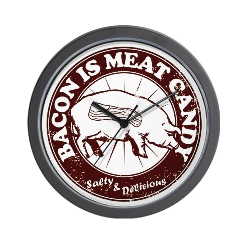 CafePress Bacon Is Meat Candy Wall Clock