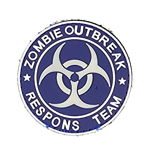Emerson Pvc Patch Round Outbreak Response Patch Velcro Backed Airsoft