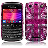 Blackberry Curve 9360 Pink Union Jack Diamante Case / Cover / Shell / Shield Part Of The Qubits Accessories Rangeby Qubits