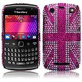 Blackberry Curve 9360 Pink Union Jack Diamante Case / Cover / Shell / Shield Part Of The Qubits Accessories Rangeby Qubits
