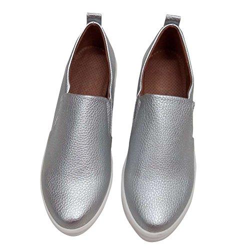 hengfeng-forma-piatta-in-pelle-donna-casual-scarpe-39-eu-argento